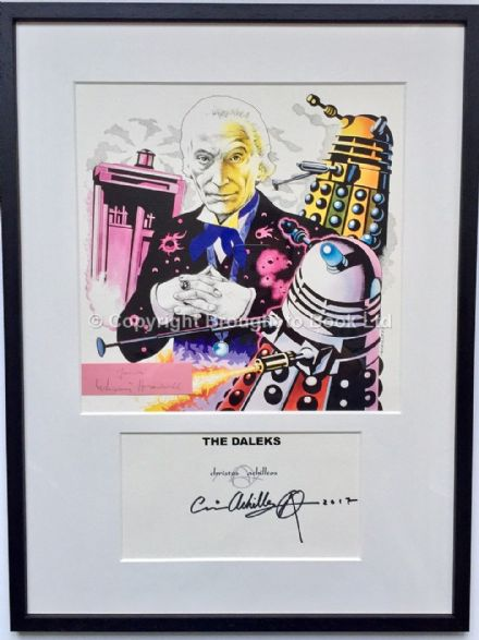 William Hartnell Autograph Doctor Who Framed Artwork Signed Christos Archilleos
